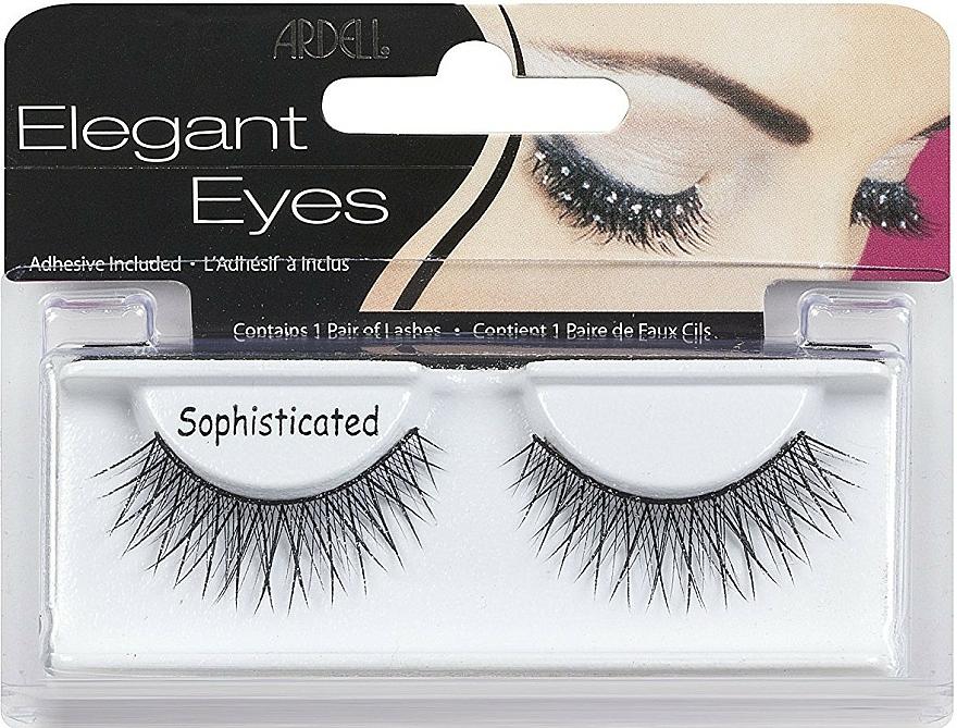 Pestañas postizas con pegamento incluido - Ardell Elegant Eyes Sophisticated Black — imagen N1