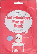 Perfumería y cosmética Mascarilla facial de tejido antirojeces con extractos de 5 frutas - Cettua Anti-Redness Facial Mask