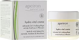 Perfumería y cosmética Crema facial revitalizante y regeneradora con manteca de karité, coco y oliva - Apeiron Hydro Vital 24h Nourishing&Regenerating Cream
