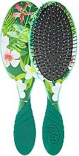 Perfumería y cosmética Cepillo de pelo con mango de goma, verde-floral - Wet Brush Pro Detangler Neon Floral Tropics