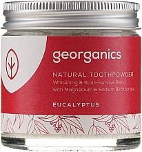 Perfumería y cosmética Polvo dental natural con magnesio y sodio bicarbonato, sabor a eucalpto - Georganics Eucalyptus Natural Toothpowder
