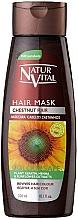 Perfumería y cosmética Mascarilla para cabello teñido castaño - Natur Vital Coloursafe Henna Hair Mask Chestnut Hair