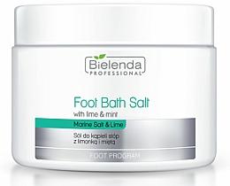 Perfumería y cosmética Sales de baño para pies con lima y menta - Bielenda Foot Bath Salt with Lime & Mint