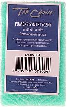 Perfumería y cosmética Piedra pómez sintética de doble cara, verde 71034 - Top Choice