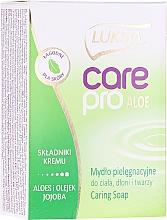 Perfumería y cosmética Jabón con aloe y jojoba - Luksja Care Pro Aloe & Jojoba Cream Soap
