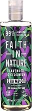 Perfumería y cosmética Champú natural vegano de lavanda y geranio, sin parabenos ni sulfatos - Faith In Nature Lavender & Geranium Shampoo