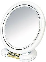 Perfumería y cosmética Espejo cosmético de doble cara, blanco, 18,5cm - Donegal Mirror