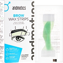 Perfumería y cosmética Andmetics Brow Wax Strips Men - Bandas de cera depilatoria para cejas (bandas/4 pares + bandas/4pares + toallitas calmantes/4uds.)