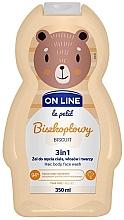 Perfumería y cosmética Gel de ducha infantil para cuerpo, cabello y rostro con aroma a galletas - On Line Le Petit Biscuit 3 In 1 Hair Body Face Wash