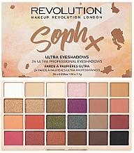 Perfumería y cosmética Paleta de sombras de ojos, 24 colores - Makeup Revolution Soph X Eyeshadow Palette