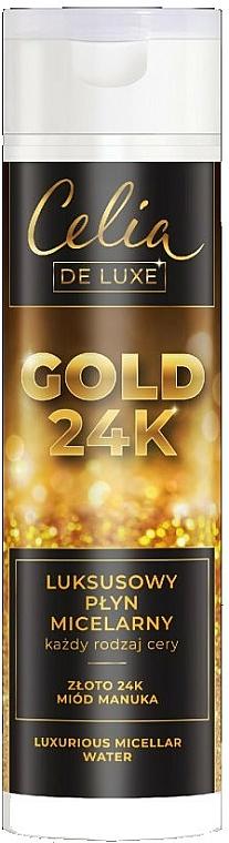 Agua micelar con oro de 24K y miel de manuka para todo tipo de piel - Celia De Luxe Gold 24k
