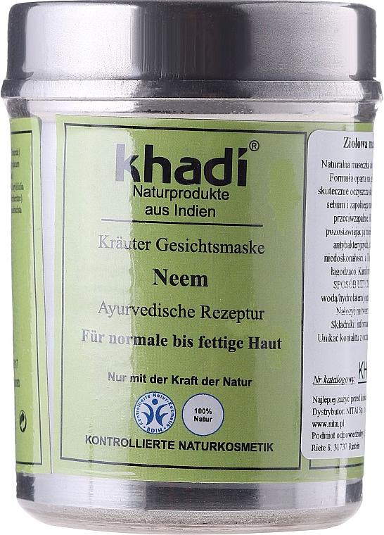 Mascarilla facial vegetal 100% natural con extracto de neem - Khadi, Neem