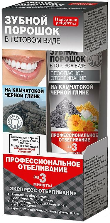 Polvo dental blanqueador con arcilla negra - Fito Cosmetic recetas populares
