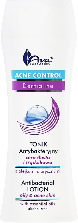 Loción facial antibacteriana con aceites esenciales, sin alcohol - Ava Laboratorium Acne Control Antibacterial Lotion