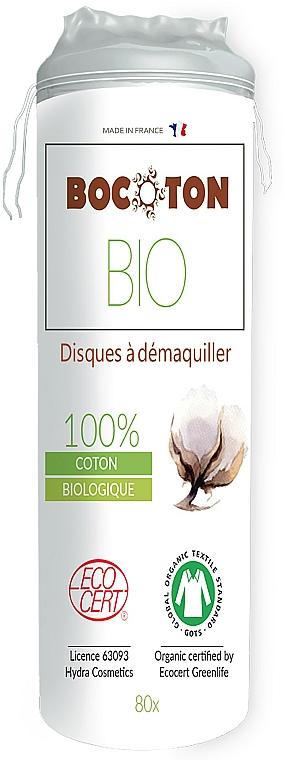 Discos desmaquillantes de algodón orgánicos, 80 uds. - Bocoton