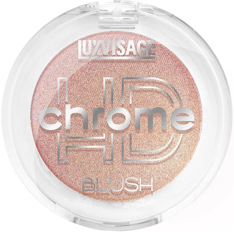 Colorete facial en polvo compacto, efecto brillante - Luxvisage HD Chrome Blush