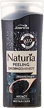 Perfumería y cosmética Gel de ducha exfoliante bio natural con carbón activo, sin siliconas - Joanna Naturia Peeling