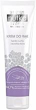 Perfumería y cosmética Crema de manos para pieles secas, aroma a grosella negra y flores blancas - Nutka Hand Cream
