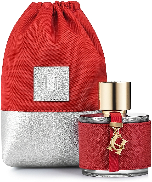 Bolso cosmético, rojo (15x10x6cm) - MakeUp Perfume Dress (vacío)