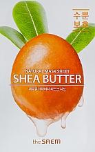 Perfumería y cosmética Mascarilla facial antipolución con manteca de karité - The Saem Natural Shea Butter Mask Sheet