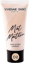 Perfumería y cosmética Base de maquillaje con efecto mate - Vivienne Sabo Mat Mattin Mattifying Foundation