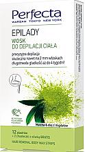 Perfumería y cosmética Bandas de cera depilatoria con extracto de té matcha - Perfecta Epilady