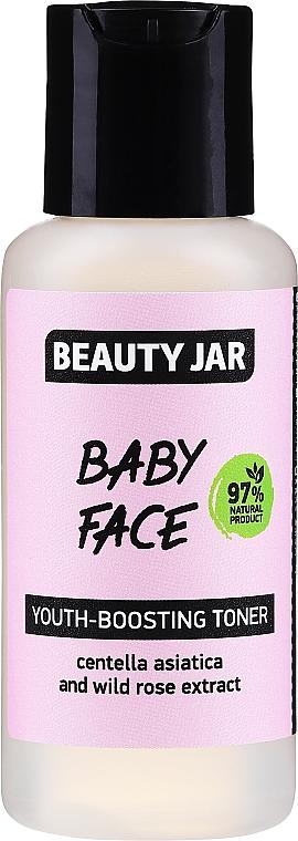 Tónico facial rejuvenecedor con extracto de centella asiática y rosa silvestre - Beauty Jar Baby Face Youth-Boosting Toner