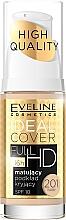 Perfumería y cosmética Base de maquillaje mate de larga duración con complejo mineral - Eveline Cosmetics Ideal Cover Full HD SPF10