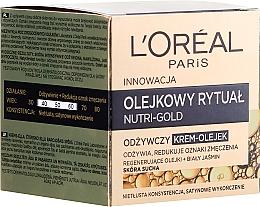 Perfumería y cosmética Crema nutritiva con aceites para piel seca - L'Oreal Paris Nutri Gold Cream-Oil
