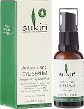 Perfumería y cosmética Sérum para contorno de ojos con aloe, extracto de pepino y aceite de rosa canina - Sukin Antioxidant Eye Serum