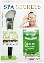 Perfumería y cosmética Set facial - Spa Secrets Cucumber Gel Face Mask (mascarilla/140ml + brocha/1ud)