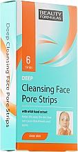 Perfumería y cosmética Tiras de limpieza profunda facial con extracto de hamamelis - Beauty Formulas Deep Cleansing Face Pore Strips