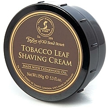 Perfumería y cosmética Crema de afeitar con aceite de madera de cedro, aroma a tabaco - Taylor of Old Bond Street Tobacco Leaf Shaving Cream Bowl