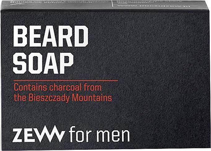 Jabón para barba con carbón - Zew For Men Natural Beard Soap