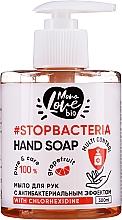 Perfumería y cosmética Jabón de manos líquido antibacteriano con clorhexidina, aceite de árbol de té y extracto de pomelo - MonoLove Bio Hand Soap With Chlorhexidine
