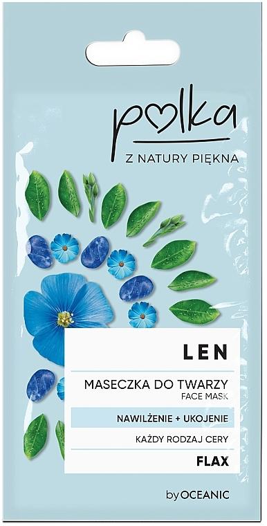 Mascarilla facial hidratante con lino - Polka Face Mask