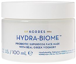 Perfumería y cosmética Mascarilla facial con yogur griego - Korres Greek Yoghurt Hydra-Biome Probiotic Superdose Face Mask