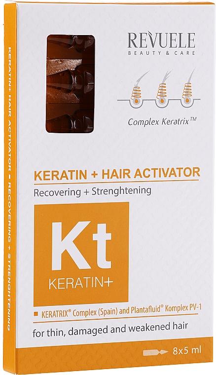 Ampollas restauradoras para cabello con queratina - Revuele Keratin+ Ampoules Hair Restoration Activator