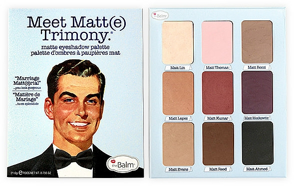 Paleta de sombras de ojos - theBalm Meet Matt(e) Trimony Matte Eyeshadow Palette