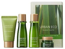 Perfumería y cosmética Set facial de viaje con extracto de lino - The Saem Urban Eco Harakeke Travel 4 Kit (espuma/25ml+tónico/31ml+emul/31ml+cre/8ml)