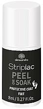 Perfumería y cosmética Base coat protectora para pies - Alessandro International Striplac Peel or Soak Protective Coat Feet