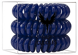 Perfumería y cosmética Coletero espiral de silicona, azul oscuro - HH Simonsen Hair Cuddles Dark Blue