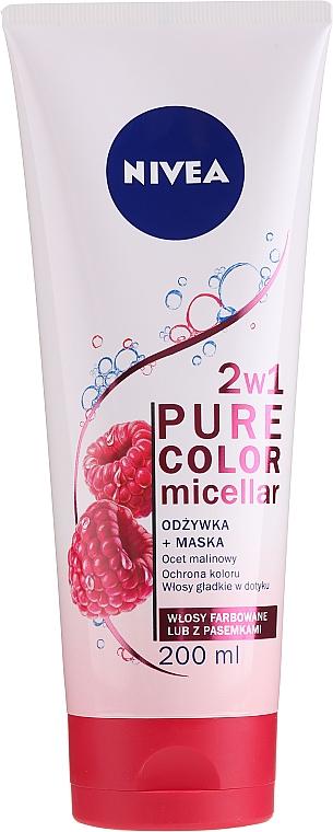 Acondicionador micelar+mascarilla para cabello teñido - Nivea Pure Color Micellar Conditioner+Mask