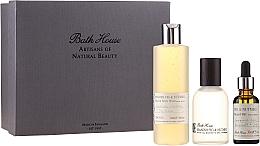 Perfumería y cosmética Bath House Spanish Fig and Nutmeg - Set (agua de colonia/100ml + gel de ducha para cuerpo y cabello/260ml + aceite de barba/30ml)