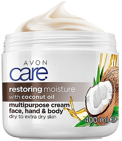 Crema para rostro, manos y cuerpo intensiva con aceite de coco - Avon Care — imagen N1