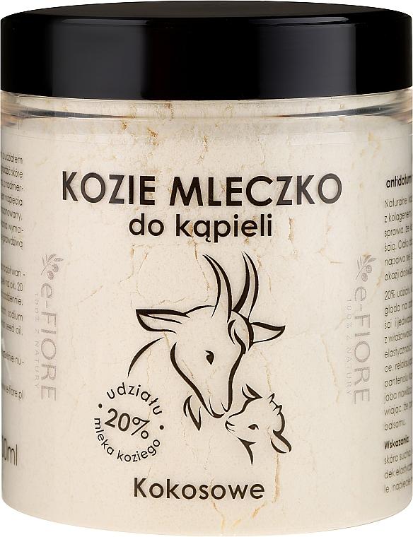 Leche baño de cabra con aroma a coco - E-Fiore Coconut Bath Milk