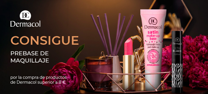 Por la compra de productos de la marca Dermacol superior a 8 €, recibe de regalo una prebase de maquillaje
