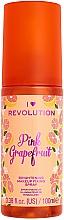 Perfumería y cosmética Spray fijador de maquillaje iluminador, aroma a pomelo rosa - I Heart Revolution Fixing Spray Grapefruit
