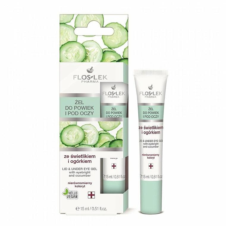 Gel para contorno de ojos con eufrasia y pepino - Floslek Lid And Under Eye Gel With Eyebright & Cucumber