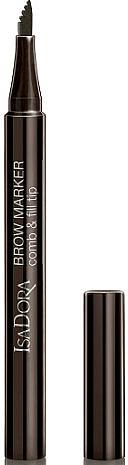 Delineador de cejas líquido mineral con un aplicador preciso de tres puntas - IsaDora Brow Marker Comb & Fill Tip